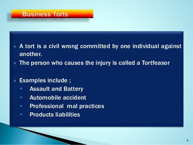 Business Torts And Crimes