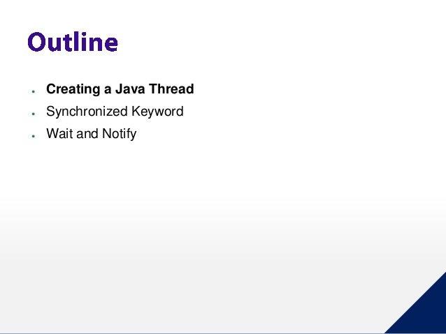 Java Thread Synchronization Slide 2