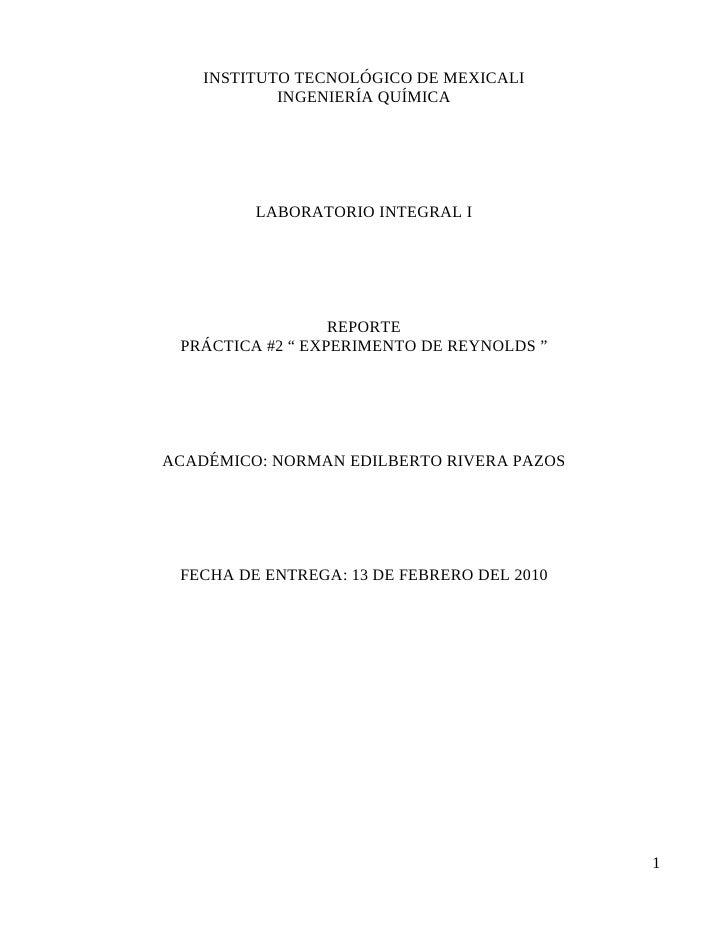 INSTITUTO TECNOLÓGICO DE MEXICALI             INGENIERÍA QUÍMICA              LABORATORIO INTEGRAL I                      ...