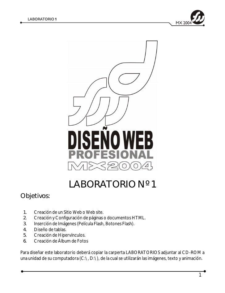 LABORATORIO 1                               LABORATORIO Nº 1 Objetivos:   1.     Creación de un Sitio Web o Web site.  2. ...
