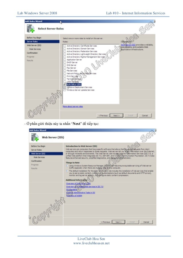 Lab 10 web server