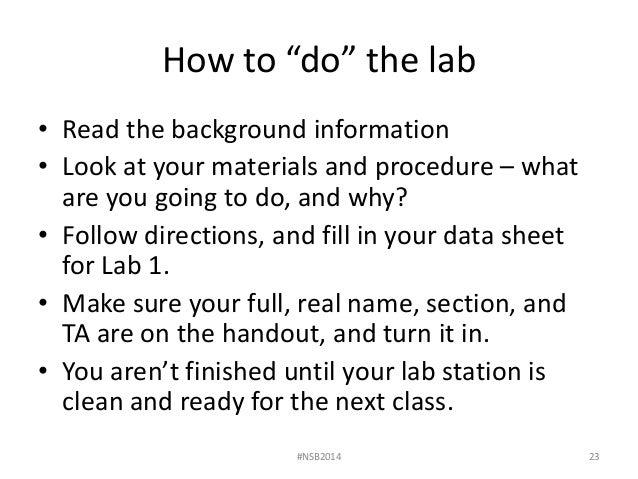 Lab 1 the scientific method