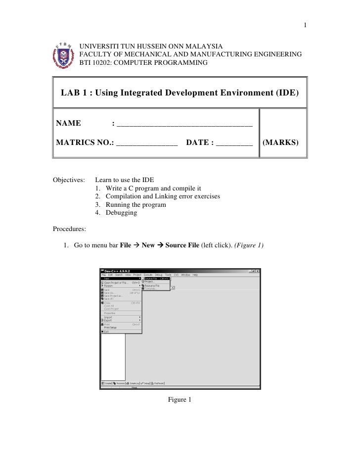 1         UNIVERSITI TUN HUSSEIN ONN MALAYSIA         FACULTY OF MECHANICAL AND MANUFACTURING ENGINEERING         BTI 1020...