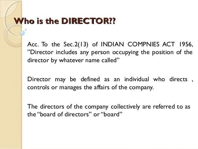 how to become director of company