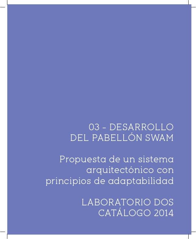 SWAM Gráficos constructivos LABORATORIO DOS CATÁLOGO 2014