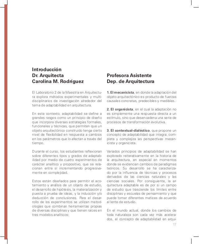 23 Modelo análogo para el estudio de casos - arquitectura activa/pasiva - Alfonso Arango.