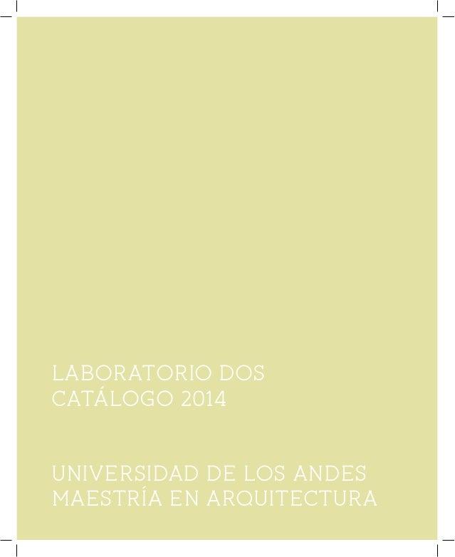 Lab2 2014 -02 Maestria Arquitectura