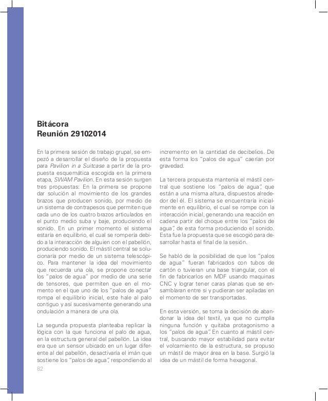 88 Principales conclusiones de la reunión del grupo de Swam Pavilion con Carlos Sana- bria, experto en estructuras neumáti...