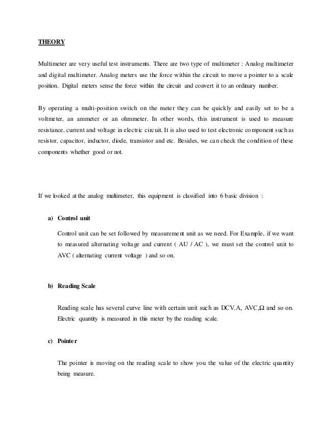 an example of an abstract for a lab report