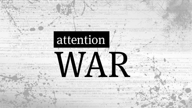 Image result for attention war