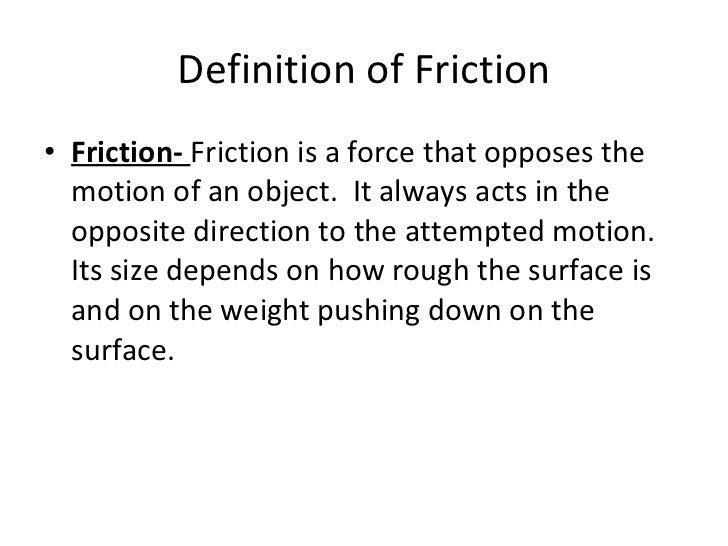 Lab 3-7th Grade: Part 2- friction