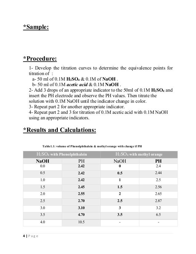 Lab 3 Acid Base Titration Curves And Acidbase Indicators