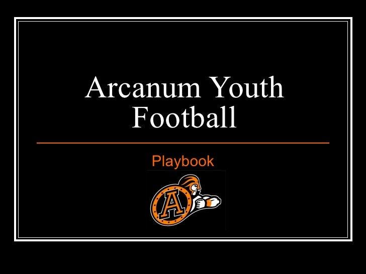 Arcanum Youth   Football    Playbook