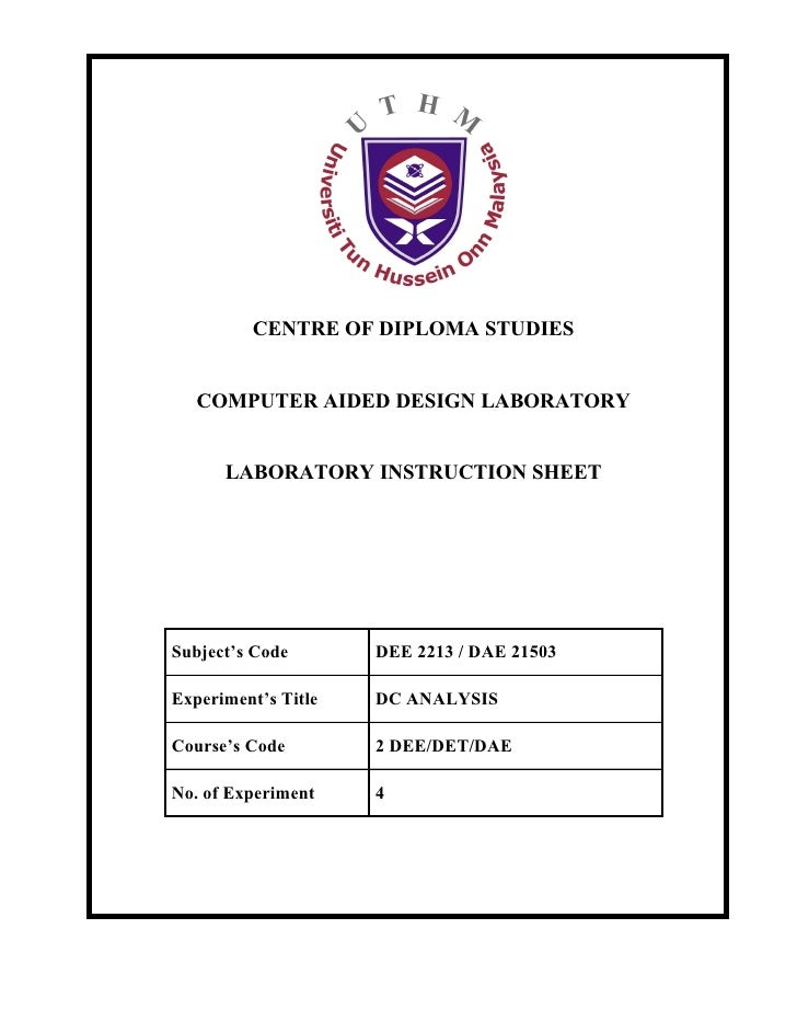Centre of Diploma Studies               Page       1/6        Electrical Engineering Department       Session    2010/2011...