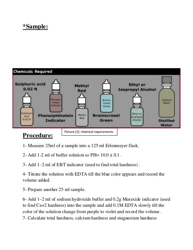 determination of hardness of water by edta titration lab report