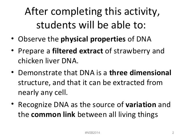 Lab 5 dna extraction from strawberries and liver fall 2014