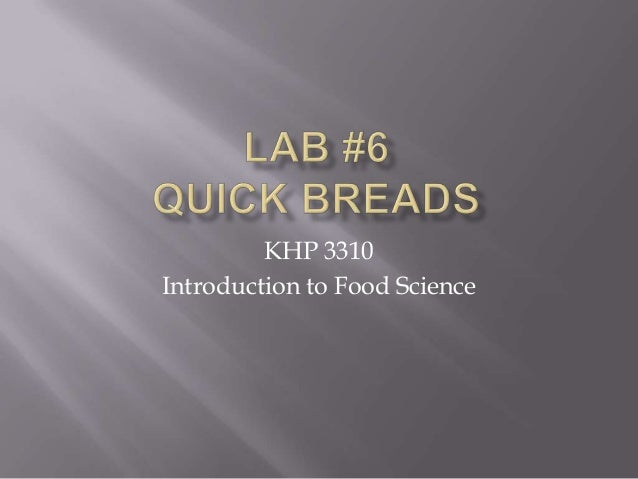 KHP 3310 Introduction to Food Science