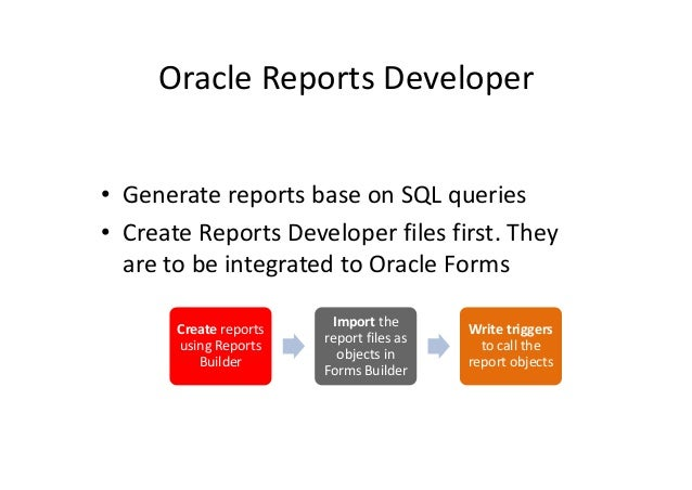 Database reports generation(database) Slide 3