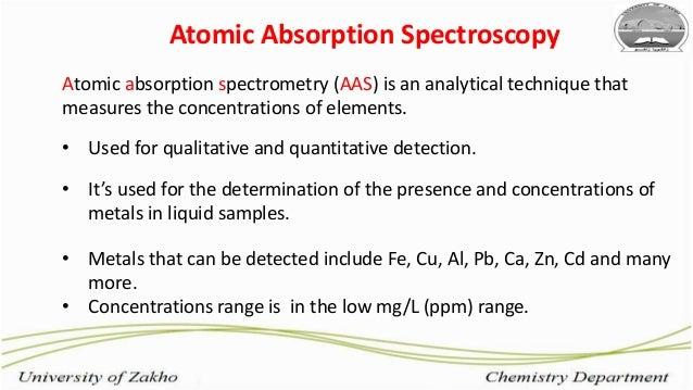 Lead Analysis of Soil Using Atomic Absorption Spectroscopy