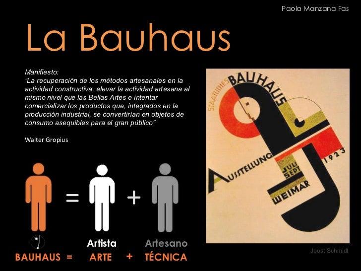 """La Bauhaus Manifiesto: """" La recuperación de los métodos artesanales en la actividad constructiva, elevar la actividad arte..."""