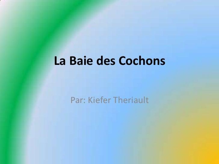 La Baie des Cochons<br />Par: Kiefer Theriault<br />