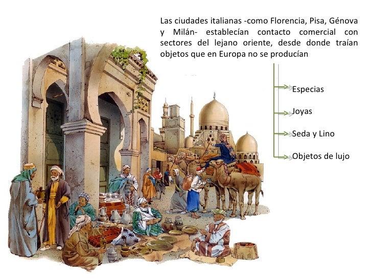 Principales centros y rutas comerciales europeas