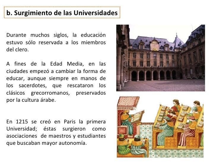 Escuelas y Universidades hacia el año 1200