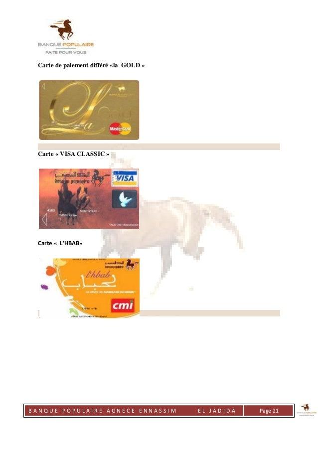 Rapport se stage la banque populaire - Plafond de retrait carte visa banque populaire ...