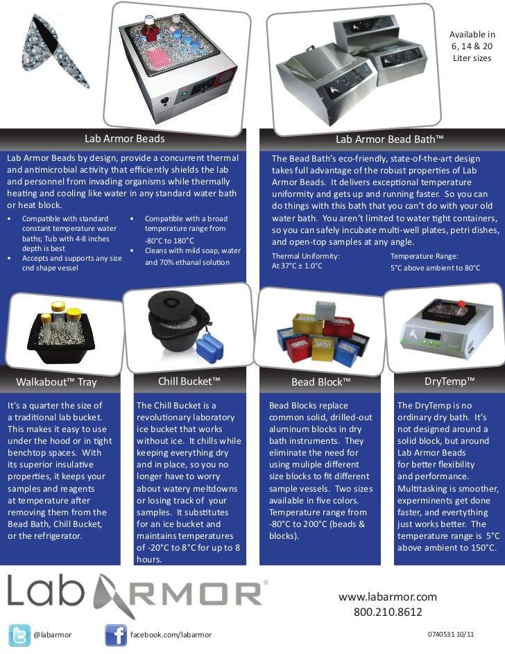Lab Armor Products Brochure - Print PDF