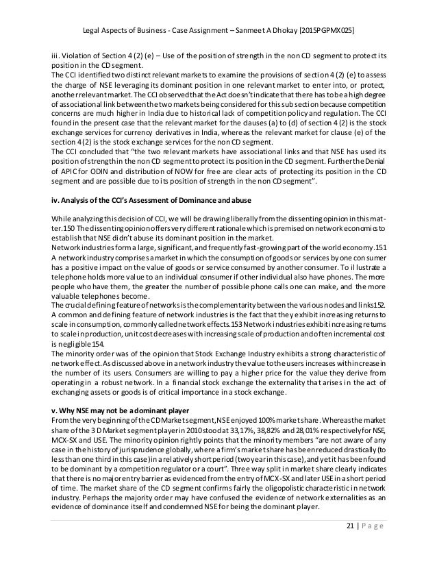 legal aspects of business essay Ba7107 -----legal aspects of business prepared by spadmanban be, mba, mphil, professor- mba competition act 2002 authority and liability of agent and principal: rights and duties of principal and agents ltdpayment of wages act dindustrial disputes act dr quasi contracts 3 performance of sales contracts.