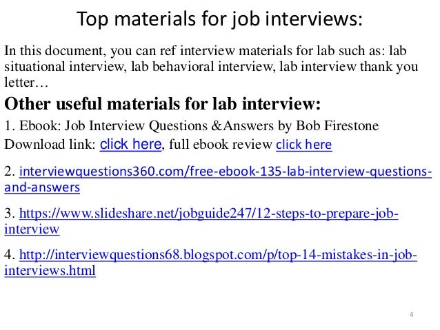 top 36 lab interview questions and answers free ebook pdf
