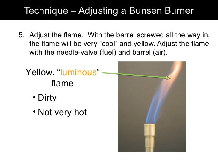 steps to lighting a bunsen burner 2012