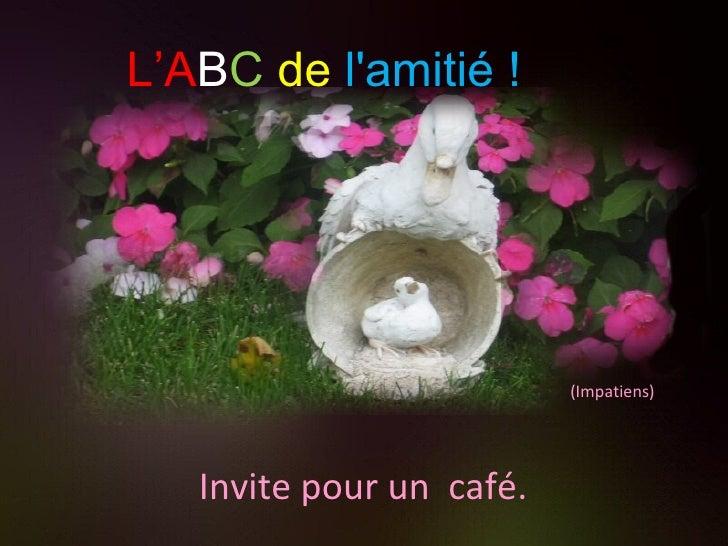 (Impatiens) Invite pour un  café. L'A B C   de   l'amitié !