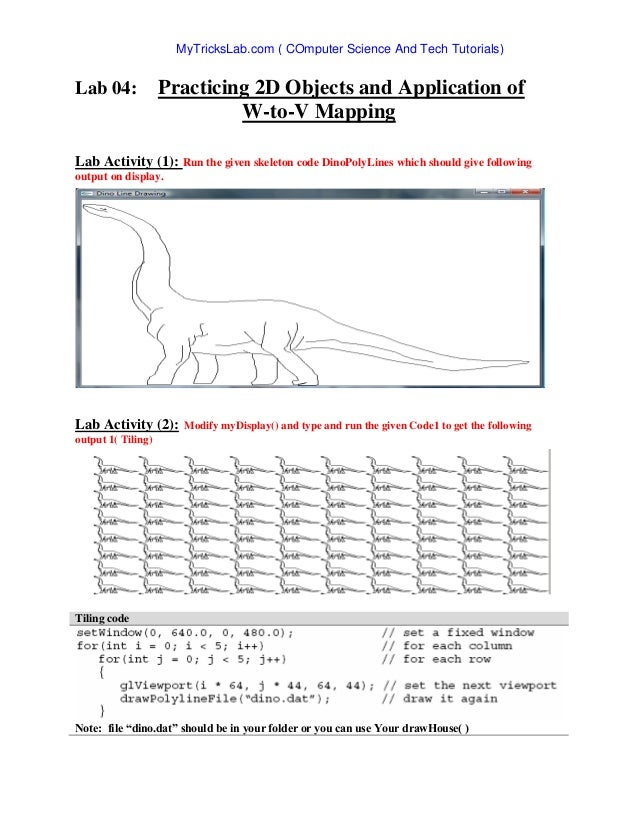 lab computer graphics opengl rh slideshare net OpenGL Triangle OpenGL Angel