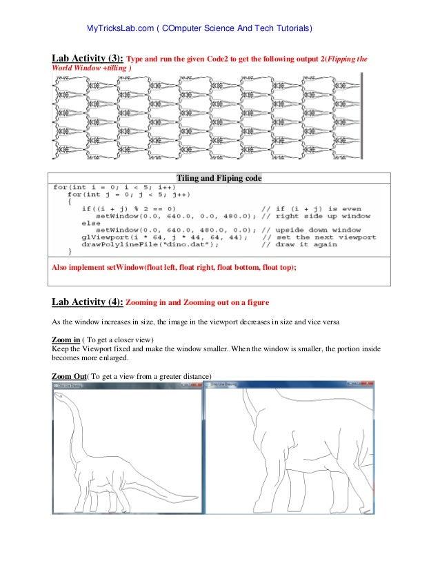 lab computer graphics opengl rh slideshare net OpenGL Windows 95 Maze OpenGL vs Direct3D