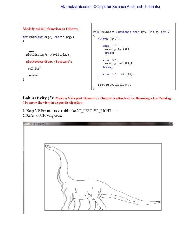 lab computer graphics opengl rh slideshare net OpenGL vs Direct3D OpenGL vs DirectX 9