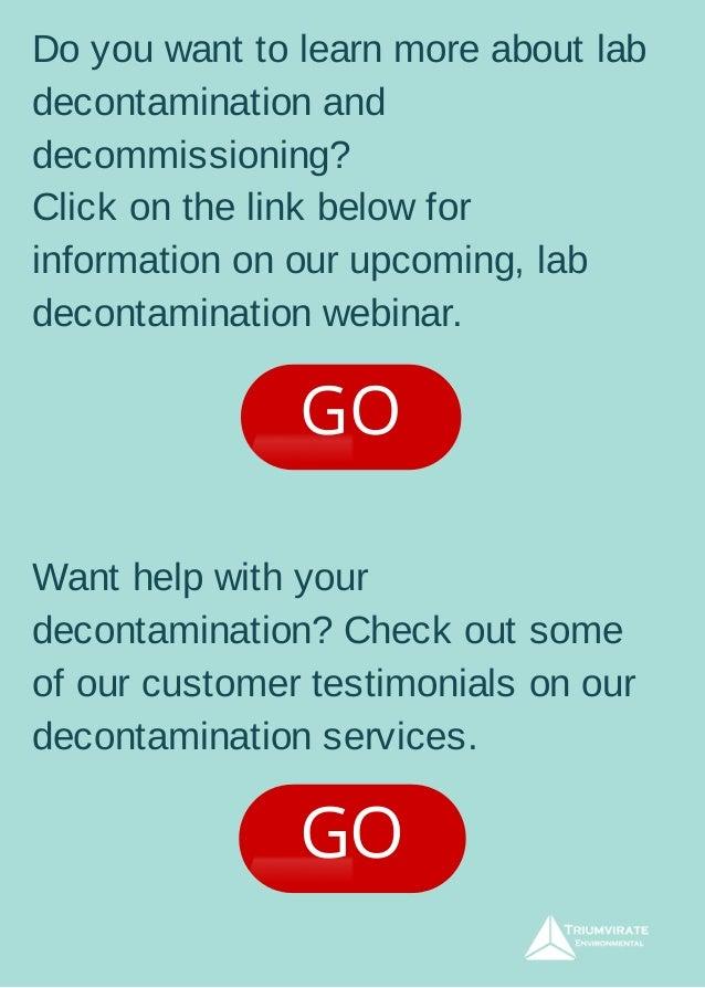 Lab Decontamination Checklist