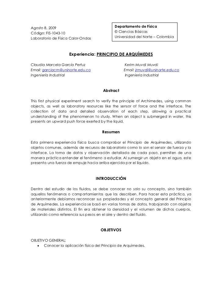 Departamento de Física© Ciencias BásicasUniversidad del Norte – Colombia Agosto 8, 2009<br />Código: FIS-1043-10<br />Labo...