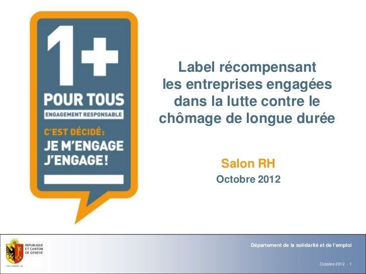 Département                               Office   Label récompensantles entreprises engagées  dans la lutte contre lechôm...