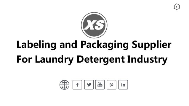 Labeling and packaging supplier for liquid laundry detergents