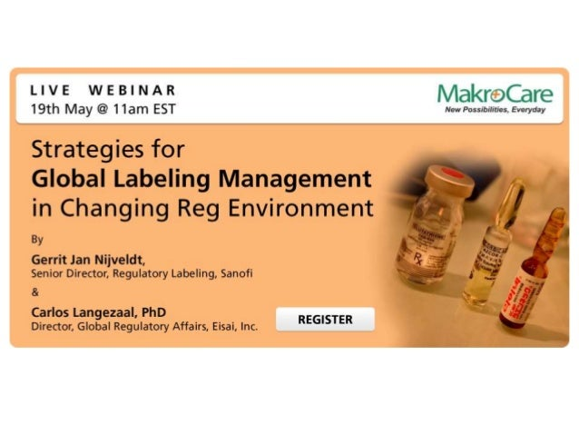 Overview If you are part of Regulatory - Labeling team in your company, you should not miss this Webinar. As you are const...