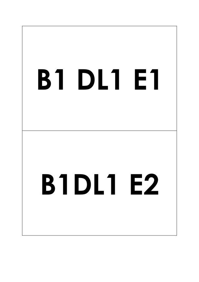 B1 DL1 E1 B1DL1 E2