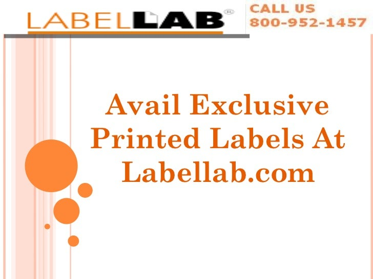 Avail Exclusive Printed Labels At Labellab.com