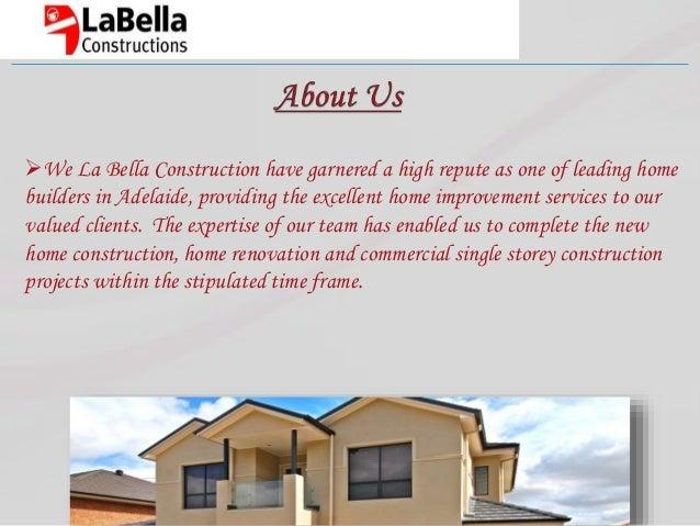 Adelaide Home Improvements La Bella Constructions