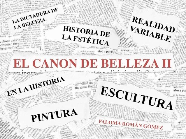 EL CANON DE BELLEZA II