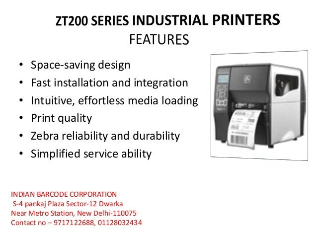 Desktop & Industrial Label printers ppt