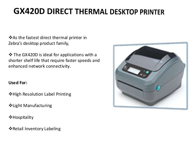 Presentation printer.
