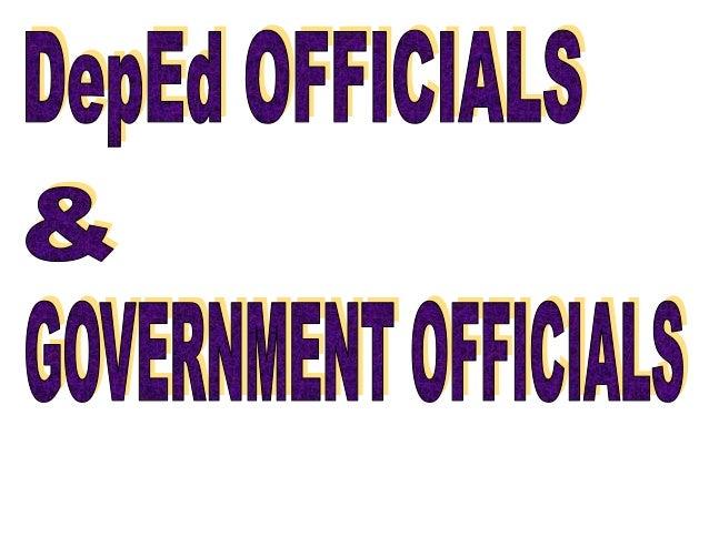 Depid OFFICIALS 8: GWERIIEHT 0FF|0|ll5