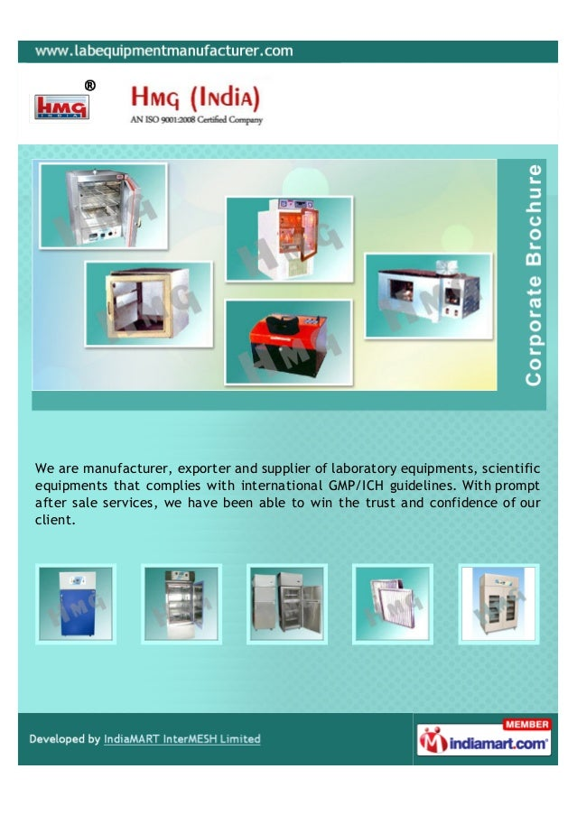 We are manufacturer, exporter and supplier of laboratory equipments, scientificequipments that complies with international...