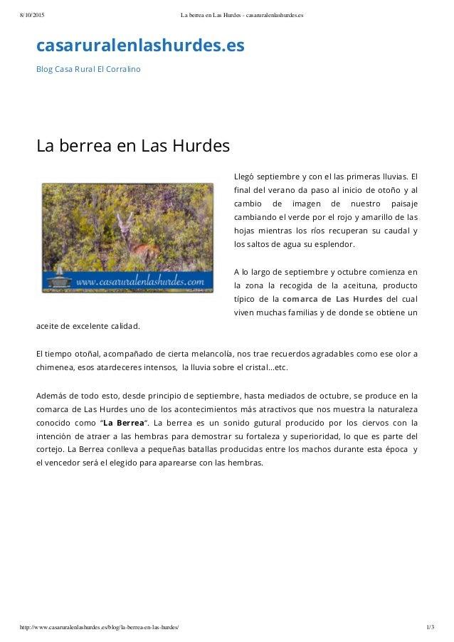 8/10/2015 La berrea en Las Hurdes - casaruralenlashurdes.es http://www.casaruralenlashurdes.es/blog/la-berrea-en-las-hurde...